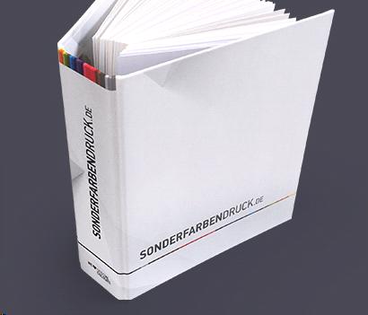 Papiermusterbuch von Sonderfarbendruck.de