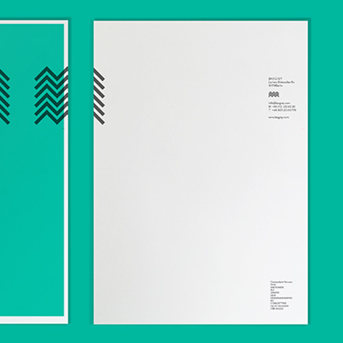 Sonderfarbendruck-Briefpapier